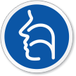 Sinus Nose & Throat Symbol ISO Circle Sign