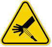ISO Skin Puncture, Water Jet Symbol Warning Sign
