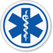 Ems/Star Of Life Symbol ISO Circle Sign