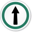 This Way Out Symbol ISO Circle Sign