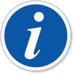 Tourist Information Symbol ISO Circle Sign