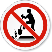 No Digging Underground Electrical Cable ISO Sign
