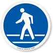 Use Pedestrian Route ISO Sign