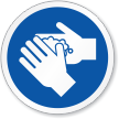 Wash Hand ISO Circle Sign