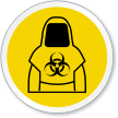 Wear Biohazard Clothing ISO Sign