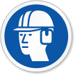 Wear Head & Ear Protection Symbol ISO Sign