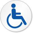 Wheelchair Handicap Symbol ISO Circle Sign