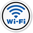Wi-Fi Signal Symbol ISO Circle Sign