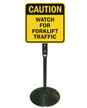 Watch For Forklift Traffic Sign & Post Kit