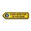 Custom Left Arrow Sign