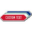 Custom Bi-Directional Arrow Sign