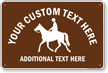 Custom Horse Text And Additional Text Sign