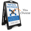 Add Your Logo Social Distancing Custom Sidewalk Sign