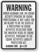 Alabama Equine Liability Sign