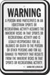 Alaska Equine Liability Sign