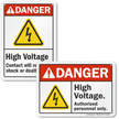 ANSI Danger High Voltage Authorized Personnel Only Sign
