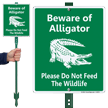 Beware Of Alligator LawnBoss Sign & Stake Kit