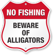 No Fishing Shield Sign