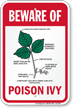 Beware of Poison Ivy sign
