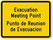 Bilingual Evacuation Meeting Point Sign