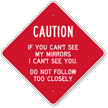 Caution Horse Trailer Sign