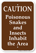 Campground Snake Warning Sign