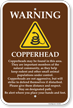 Copperhead Warning Sign