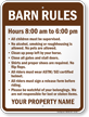 Custom Barn Rules Sign