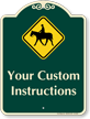 Custom Horse Safety Instructions Signature Sign