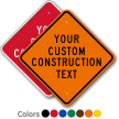 Customizable Diamond Industrial Construction Sign Template
