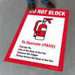 Do Not Block To Operate (PASS) Sign