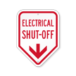 Electrical Shut-Off With Down Arrow Sign