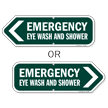 Emergency Eye Wash And Shower Directional Sign