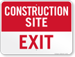 Exit Construction Site Sign