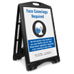 Face Covering Required Add Your Custom Logo Sidewalk Sign
