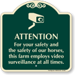 Farm Employs Video Surveillance Sign