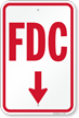 FDC (Downward Pointing Arrow) Fire and Emergency Sign