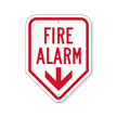 Fire Alarm Sign With Down Arrow