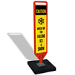 FlexPost Caution Falling Ice Paddle Portable