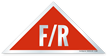 F/R Triangular, Red Background