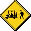 Golf Cart And Pedestrian Crossing Sign