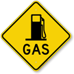Gas Diamond-shaped Traffic Sign