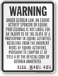 Georgia Equine Liability Sign