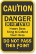 Bee Yard Warning Sign