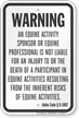 Idaho Equine Liability Sign
