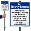 Individuals May Be Subject To Search LawnBoss Sign