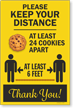 Keep Your Distance At Least 24 Cookies Apart Sign Panel