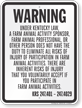 Kentucky Equine Liability Sign