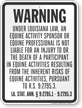 Louisiana Equine Liability Sign