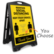 Maintain Social Distancing Add Custom Image Sidewalk Sign